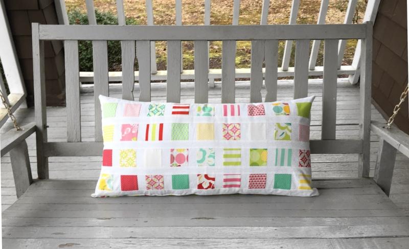 mini charm bench pillow