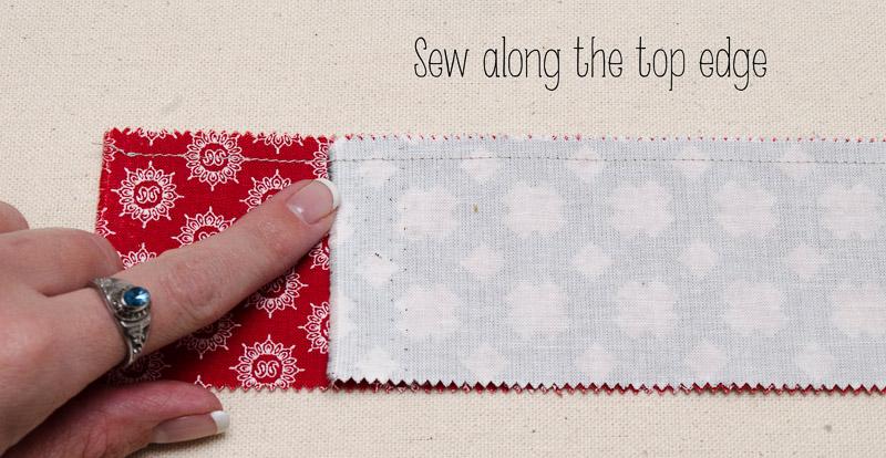 """Sew 1/4"""" SA across top"""
