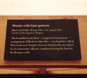 Pompeii plaque