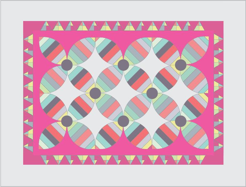 large orange peel quilt layout