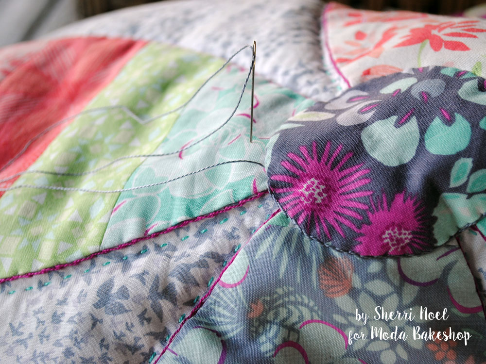 big stitch hand quilting kate spain canyon fabric for