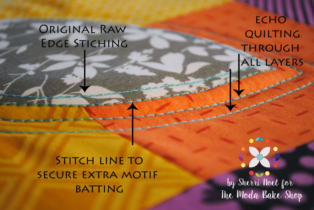 stitching orange peel quilt