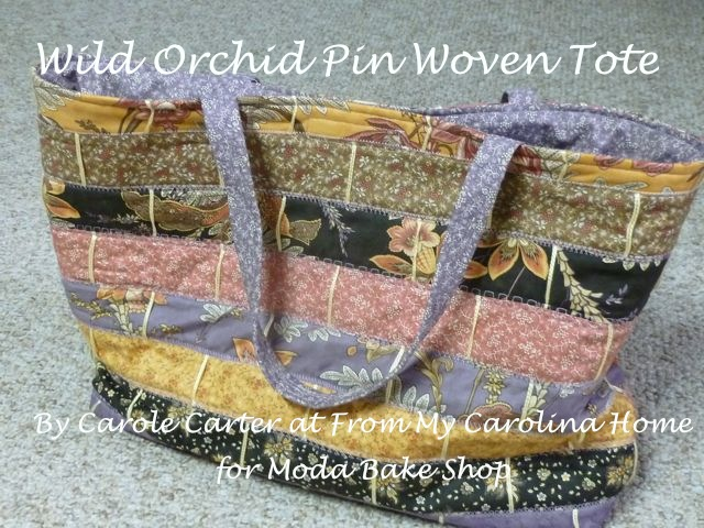 Wild Orchid Tote Title