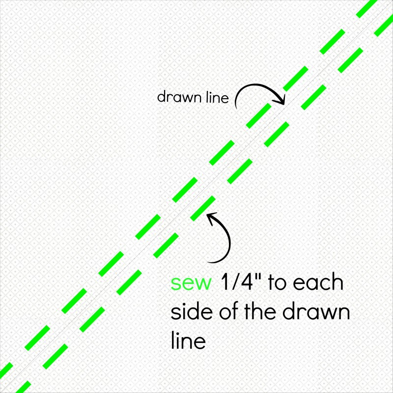 Half square tirangle drawing