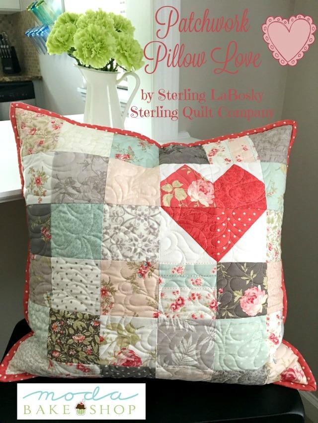 Patchwork Pillow Love-2