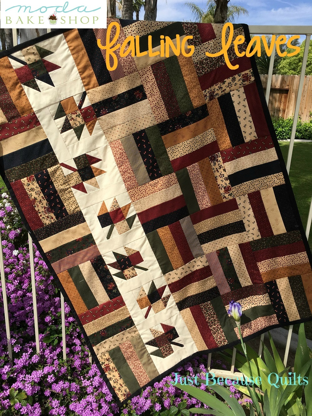 Falling Leaves Appliques for Quilts  Set of 12  Style 1  Lot 107