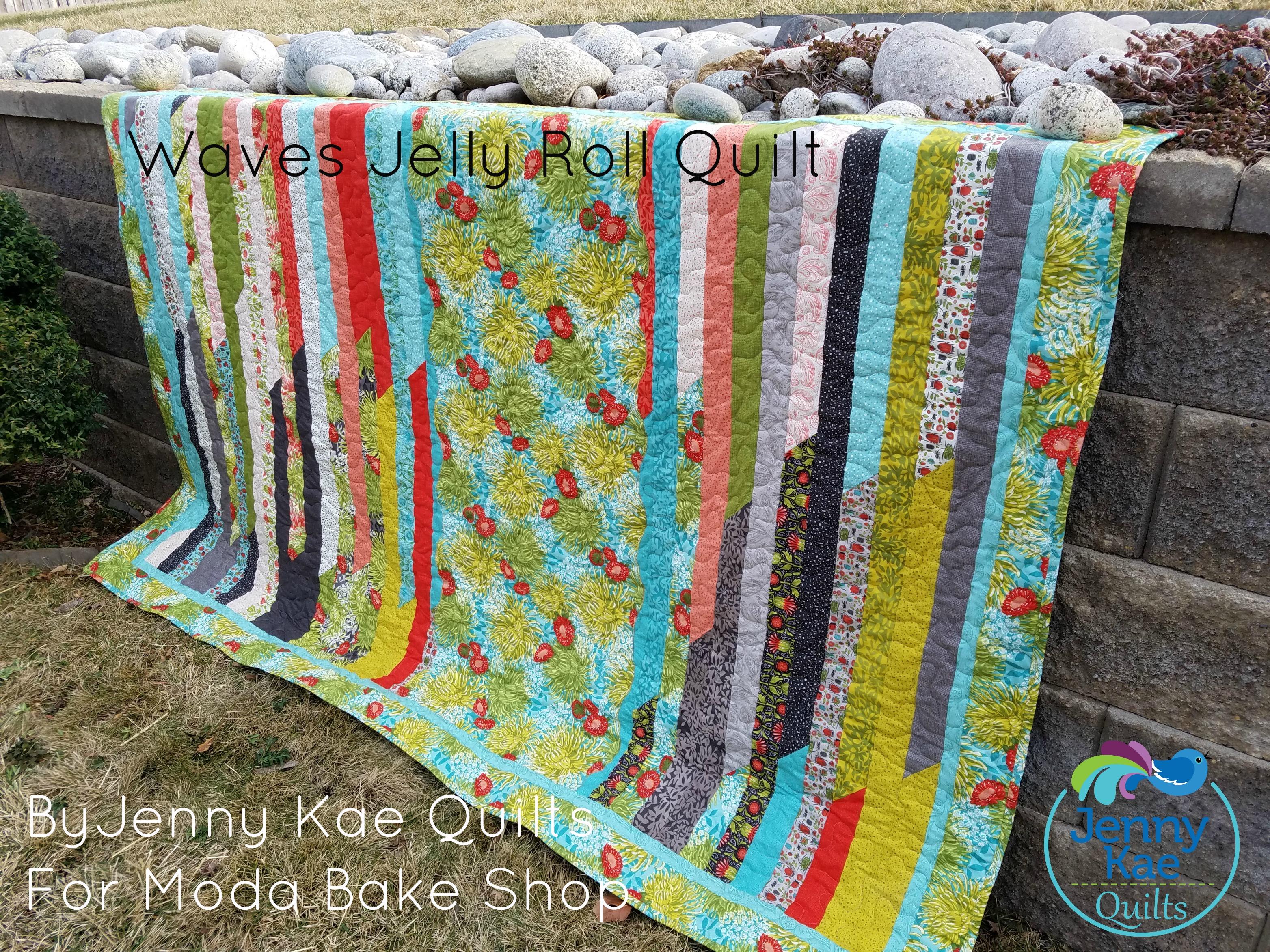 Waves Jelly Roll Quilt Modafabrics Com
